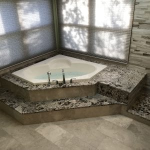 Bathroom remodeling modern tub