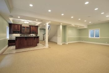 Basement remodeling in Elgin