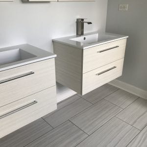 Bathroom Remodeling in Carpentersville - modern sinks, new flooring
