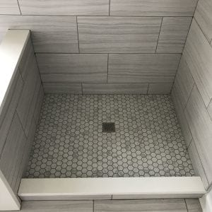 Bathroom Remodeling in Carpentersville - shower base tile and wall tile