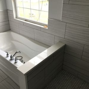 Bathroom Remodeling in Carpentersville - gray wooden wall paneling