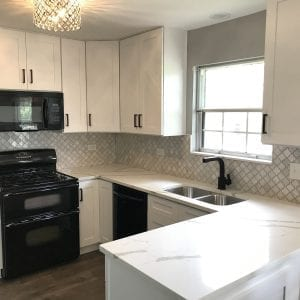 Kitchen Remodeling in Streamwood - new backsplash, cabinets, hardwood flooring