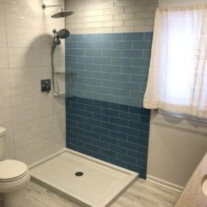Bathroom remodeling Schaumburg, new tiles and shower