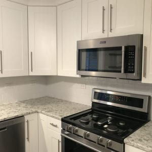 Kitchen remodeling Elk Grove Village IL, new granite countertops and cabinets