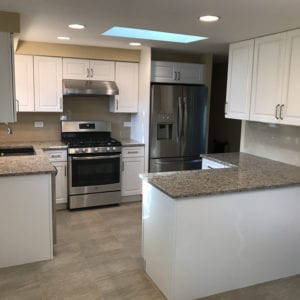 Kitchen cabinets, new flooring, and granite countertops Schaumburg IL