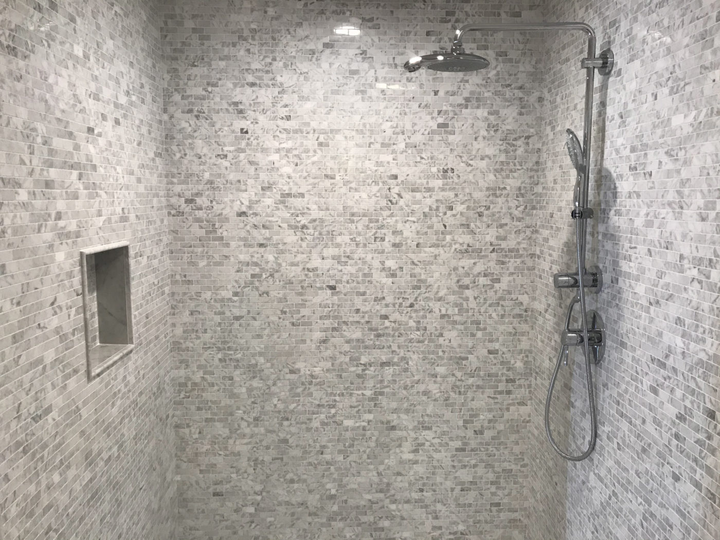 Remodeled shower in Northbrook, Illinois