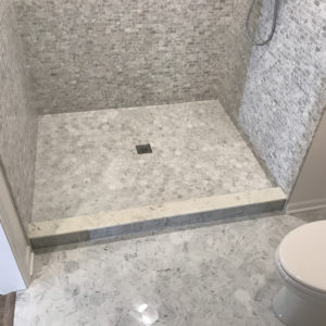Remodeled bathroom and shower in Northbrook, Illinois