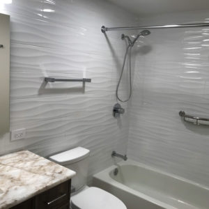 Remodeled bathroom and shower in Park Ridge IL