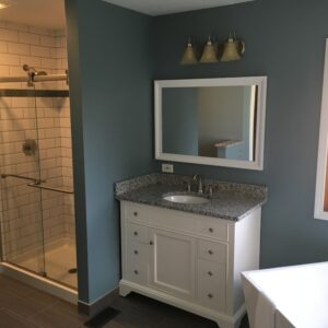 Granite countertop and sink - Roselle bathroom remodel