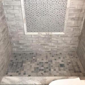Remodeled shower in Hoffman Estates