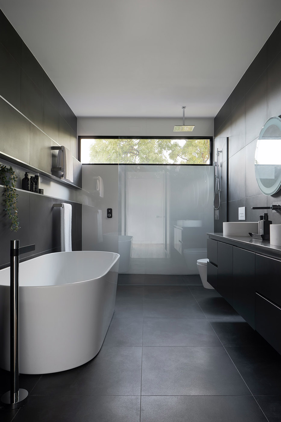 Modern shower and bathroom